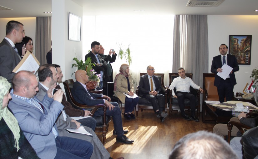 Minister Wael Abou Faour meets a Delegation from el Litani