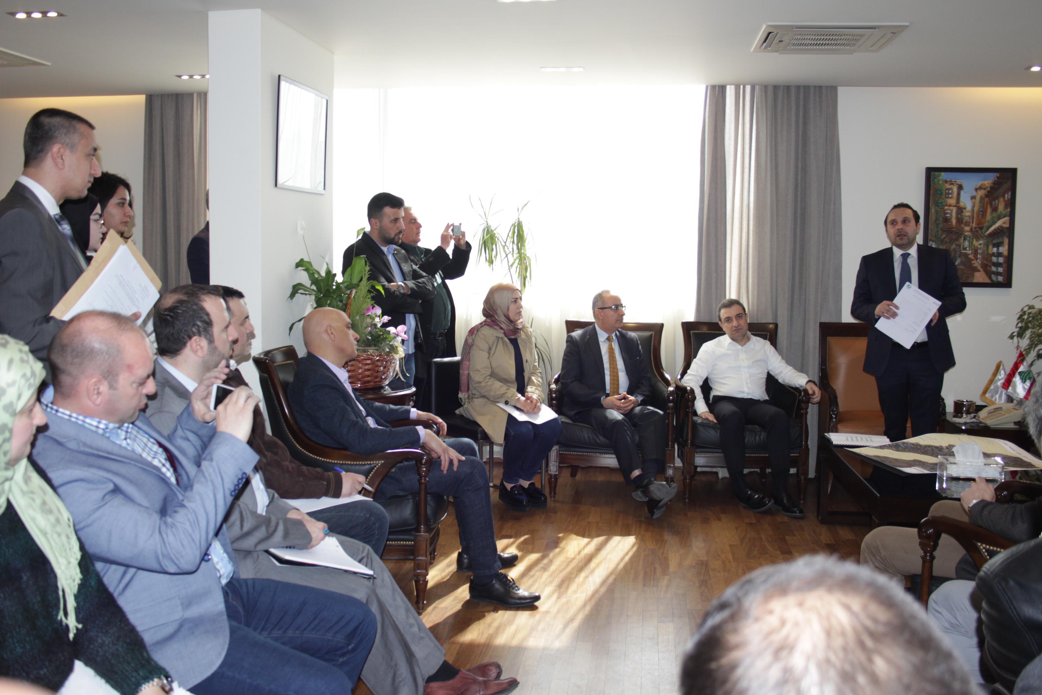 الوزير ابو فاعور يترأس اجتماع اللجنة المشتركة لليطاني
