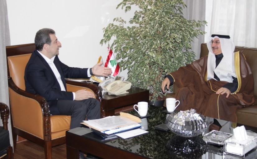 Minister wael abou Faour meets Kuwaiti Ambassador