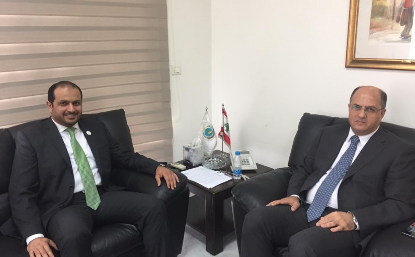 Minister Hassan Lakis Meets Emirates Ambassador