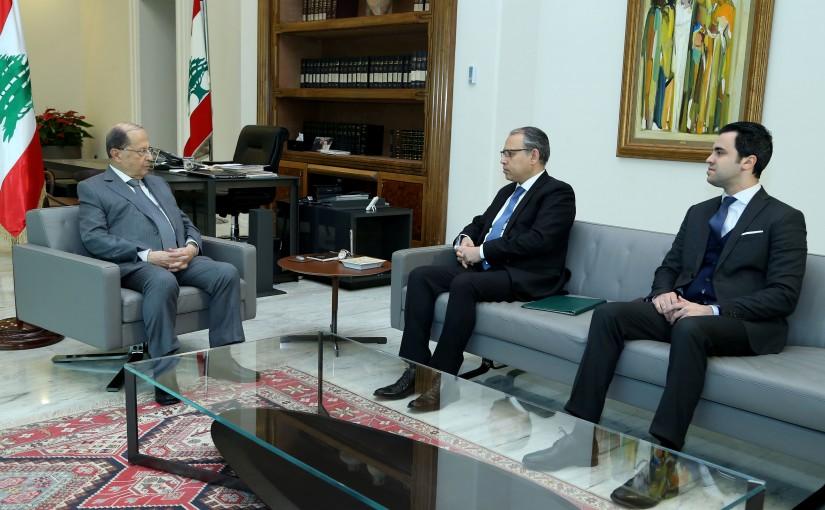 President Michel Aoun meets Ambassador Nazih Al-Najjar.
