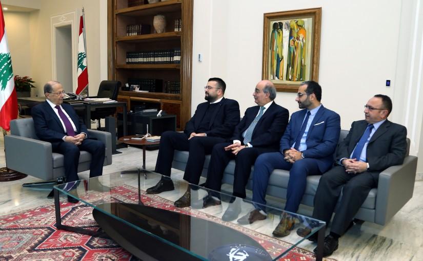 President Michel Aoun meets  Mr. Ahmad Hariri and MP Nazih Najem.