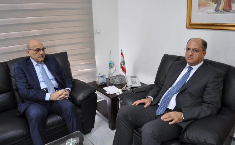 Minister Hassan Lakis Meets Mr Nari Khoury