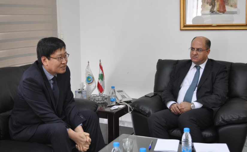 Minister Hassan Lakis Meets South Korean Ambassador