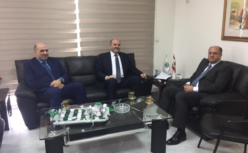 Minister Hassan Lakis Meets MP Selim Aoun