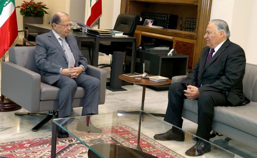 President Michel Aoun meets Former MP Chamel Mozaya.