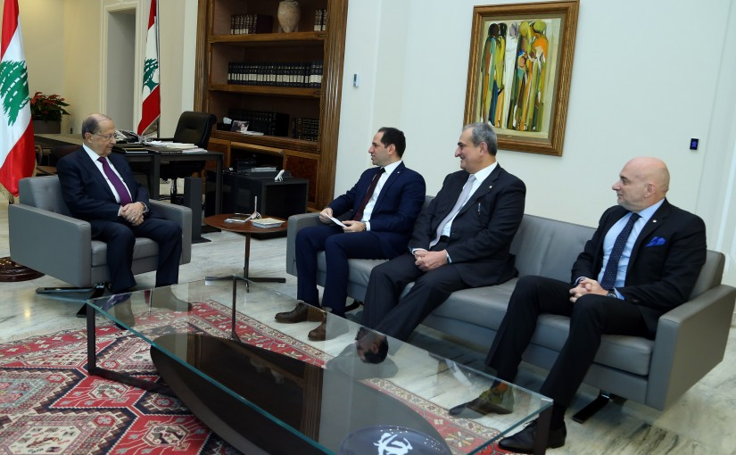 President Michel Aoun meets MP Sami Gemayel.