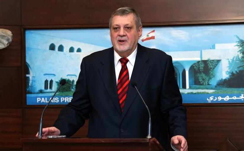 President Michel Aoun  meets Mr. Jan Kubis with a delegation.
