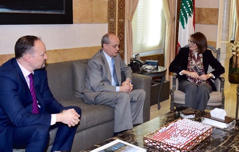 Minister Raya El Hassan Meets Spain Ambassador