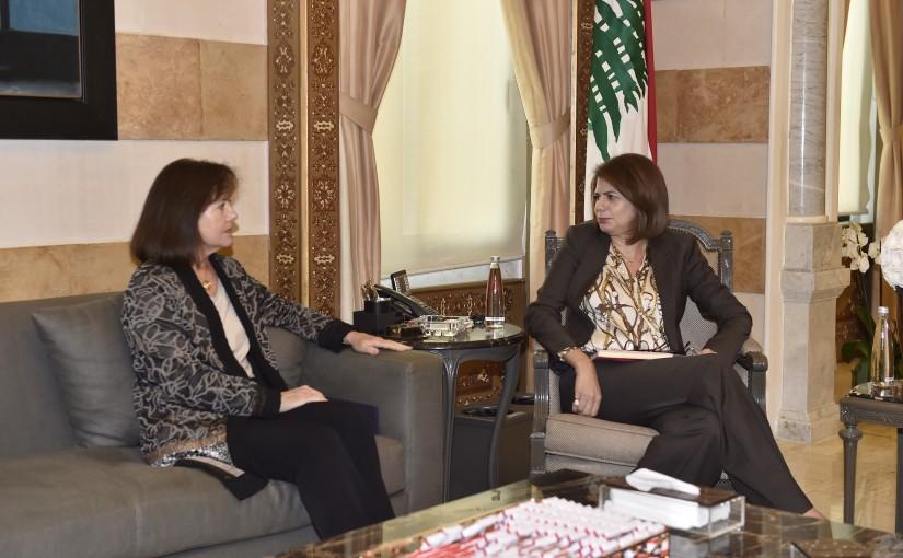 Minister Raya Hassan Meets US Ambassador