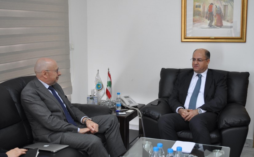 Minister Hassan Lakis Meets Uruguay Ambassador