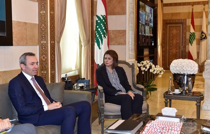 Minister Raya El Hassan Meets British Ambassador