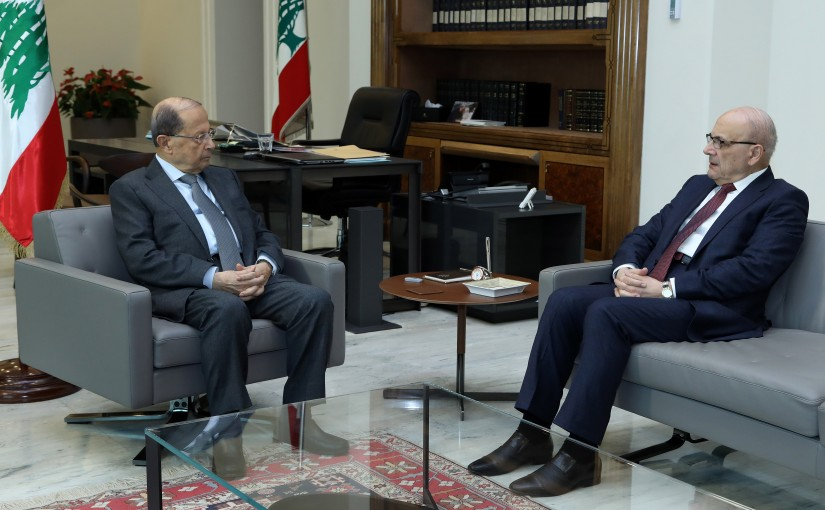 President Michel Aoun meets Dr. Nasri Khoury.