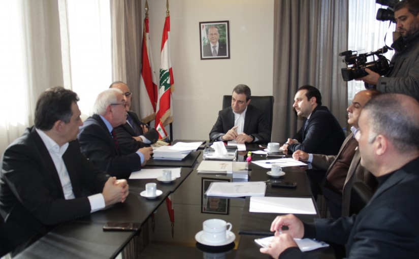 Minister Wael Abu Faour Heading a Meeting in Order to Follow the Pollution Treatment Procedures in the Litani River