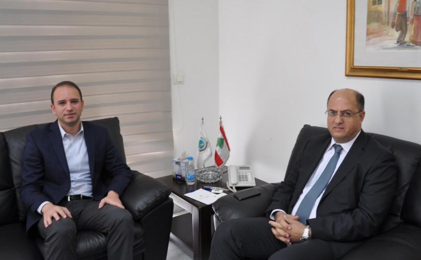 Minister Hassan Lakis Meets Mohafez of Baalbak Hermel Bachir Khoder