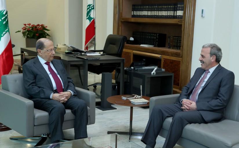 President Michel Aoun meets Ambassador Gabriel Issa.