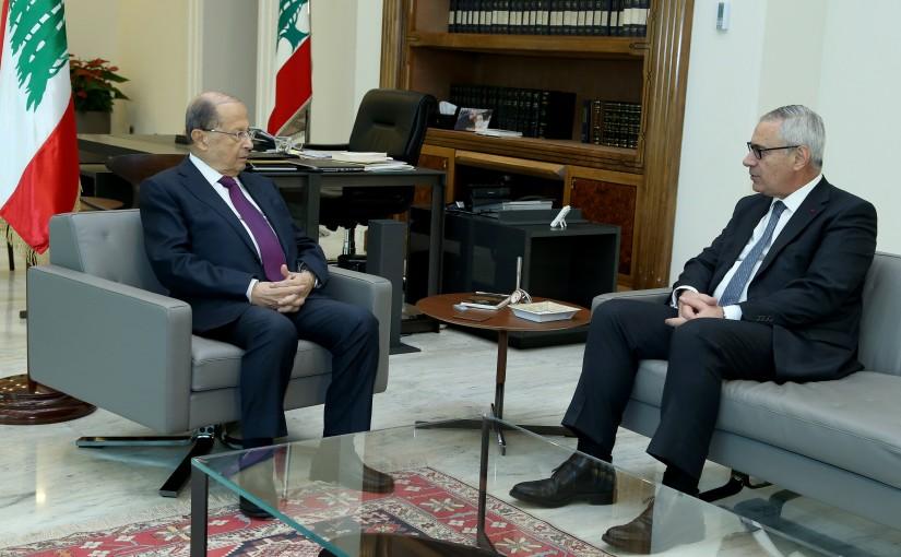 President Michel Aoun meets Judge Jean Fahed.
