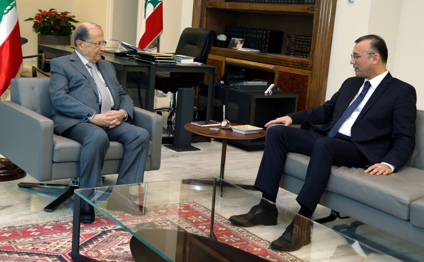 President Michel Aoun meets MP Ali Darwish.