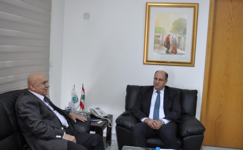 Minister Hassan Lakis Meets Director General of the Arab Center for the Studies of Arid Zones and Drylands (ACSAD) Dr. Rafiq Ali Saleh