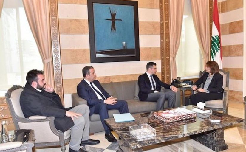 Minister Raya El Hassan Meets MP Toni Frangieh