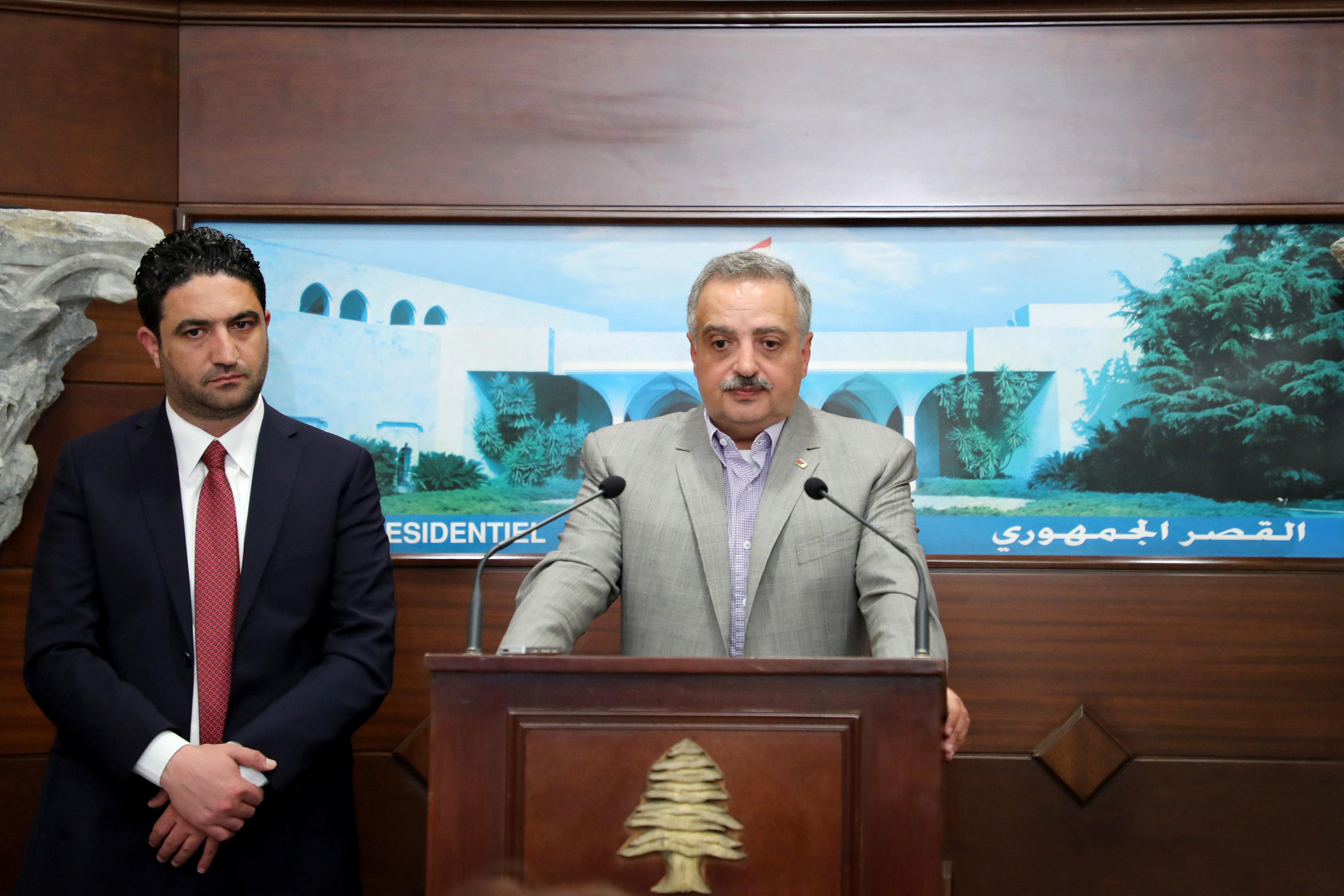 5- Minister Saleh Al Gharib & MP Talal Arslan (2)