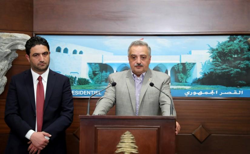 President Michel Aoun meets Minister Saleh Al Gharib & MP Talal Arslan.