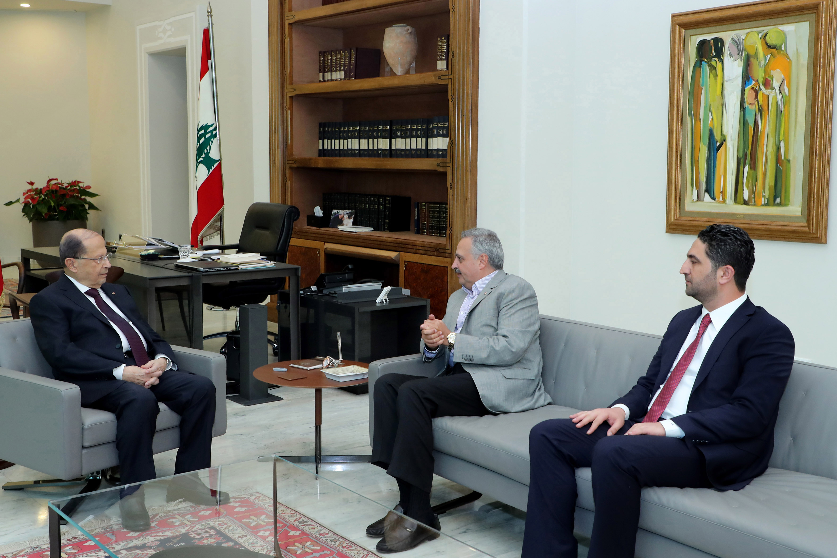 5- Minister Saleh Al Gharib & MP Talal Arslan