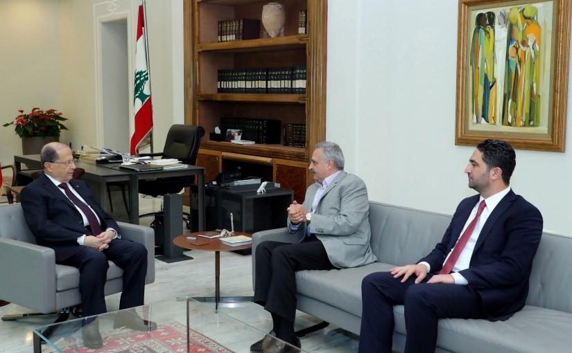 President Michel Aoun meets Minister Saleh Al Gharib & MP Talal Arslan