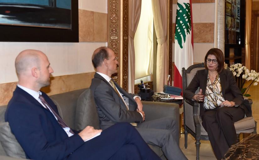 Minister Raya Hassan Meets Holland Ambassador