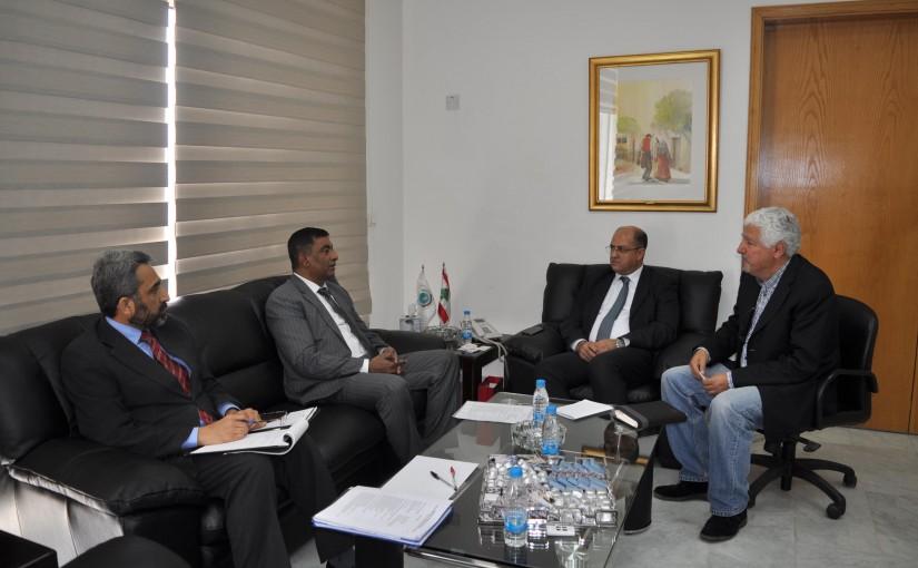 Minister Hassan Lakis Meets Pakistan Ambassador