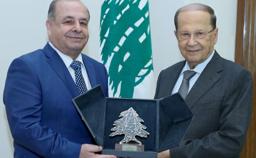 President Michel Aoun meets  Mr. Adnan Nassar.