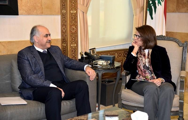 Minister Raya El Hassan Meets MP Hady Abou El Hassan