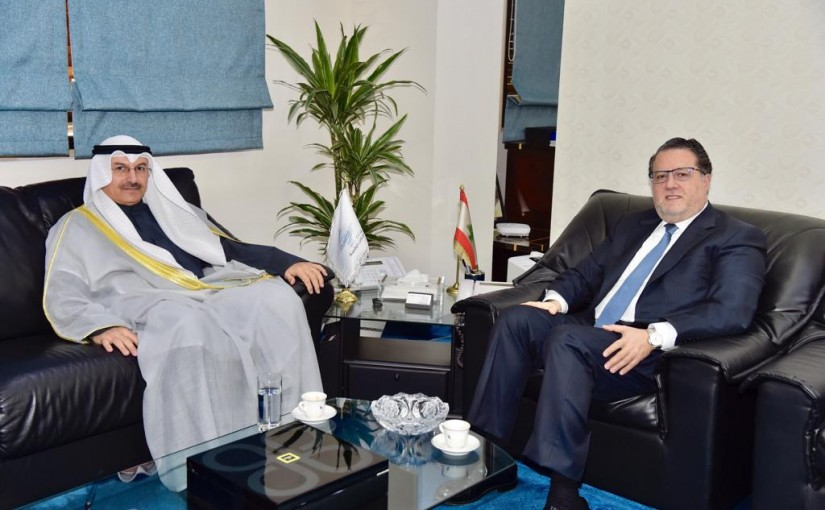Minister Mohamad Chkeir Meets Koweity Ambassador