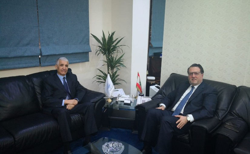 Minister Mohamad Chkeir Meets Algerian Ambassador