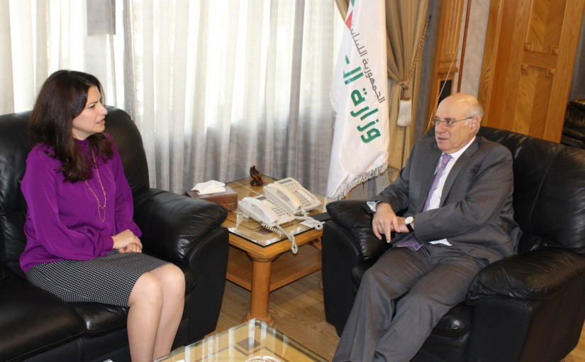 Minister Kamil Abou Sleiman Meets Assistant Director-General and Regional Director for Arab States Dr. Ruba Jaradat