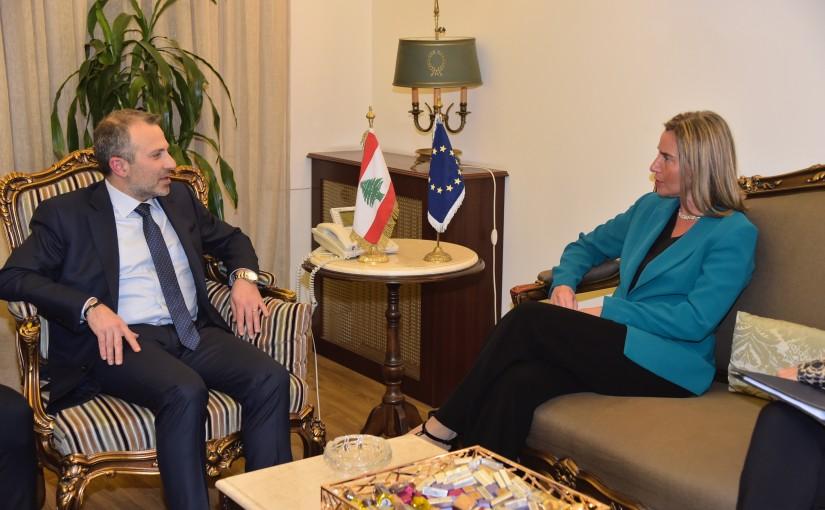 Minister Gebran Bassil meets Mrs Federica Mogherini