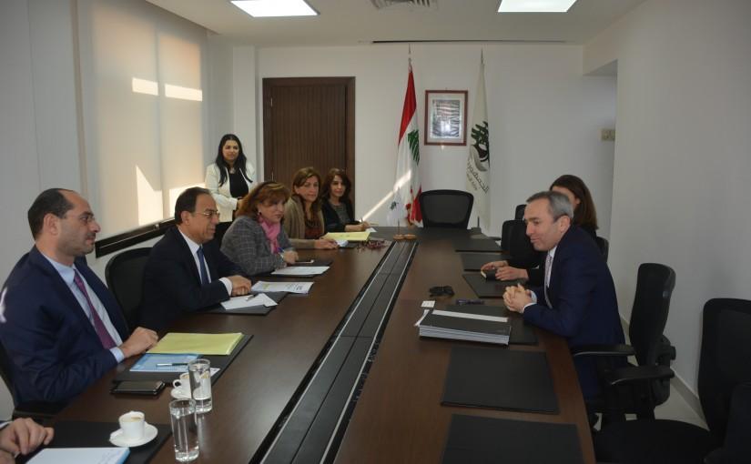 Minister Mansour Bteich meets Britsh Ambassador