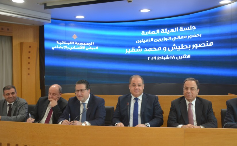 Minister Mouhamad Choucair at the Social and Economic Council