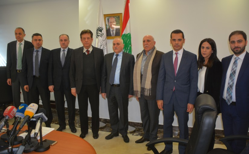 Minister Jamil Jabak meets Mr Haroun Rashid with a Delegation