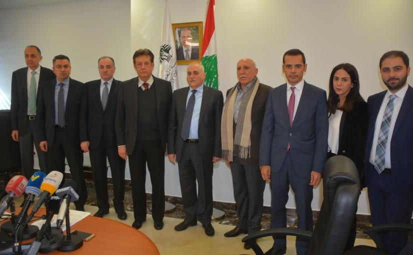 Minister Jamil Jabak meets Mr Haroun Rashid with a Delegation