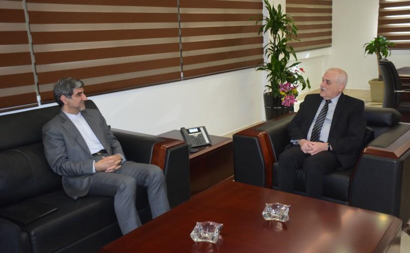Minister Jamil Jabak meets Iranian Ambassador