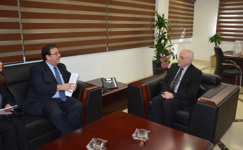 Minister Jamil Jabak meets French Ambassador