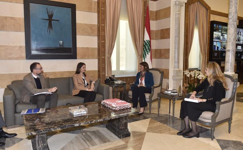Minister Raya el hassan meets European Ambassador