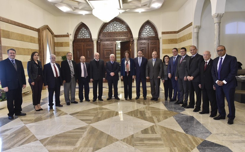 Minister Raya hassan meets a Delegation from Beirut Families