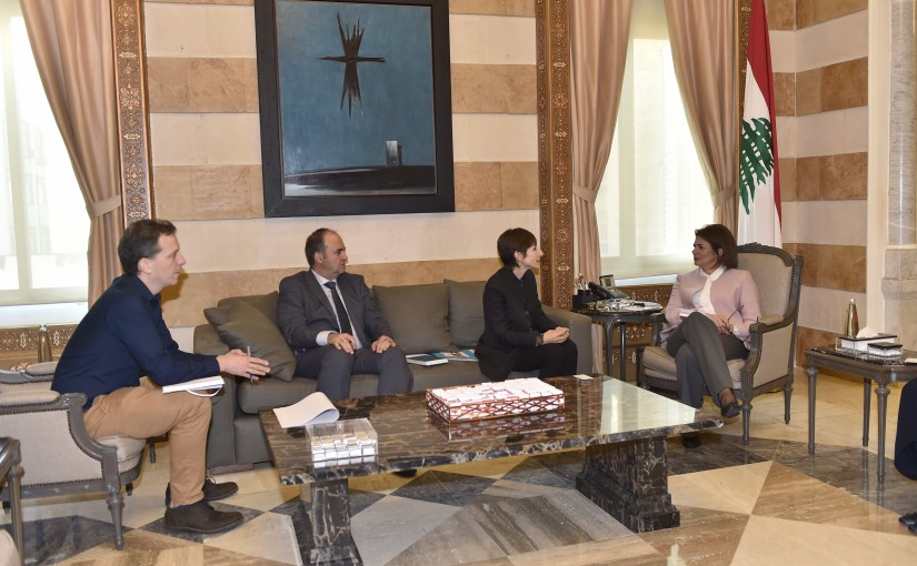 Minister Raya el hassan meets a Delegation from United Nation