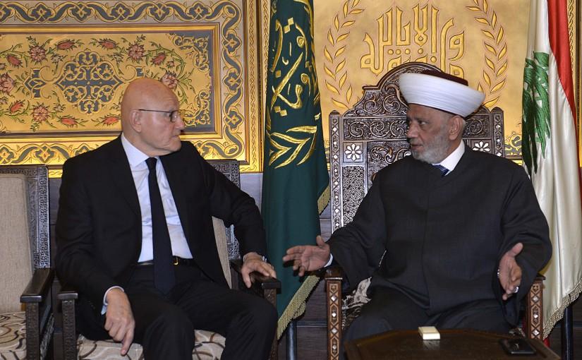 Mufti Abdel Latif Derian meets Former Pr Minister Tammam Salam