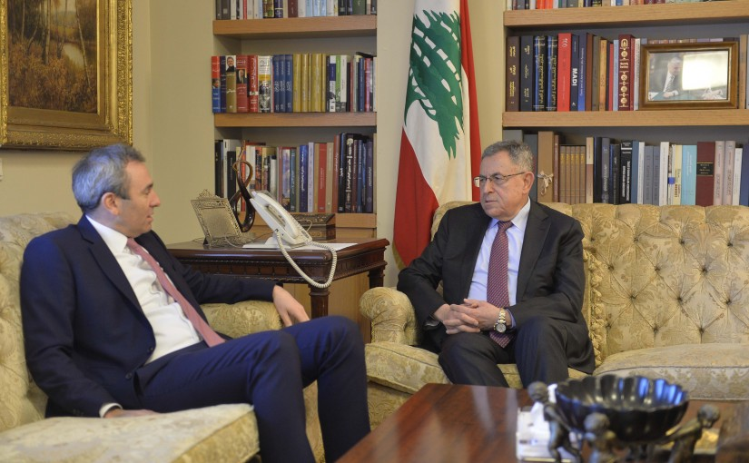 Former Pr Minister Fouad Siniora meets British Ambassador
