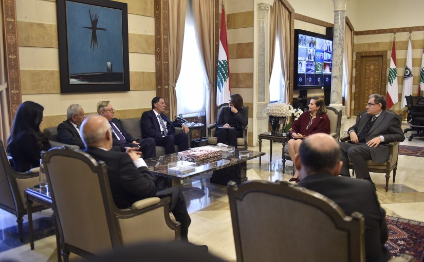 Minister Raya el hassan meets a Delegation from Election Supervisory Committee