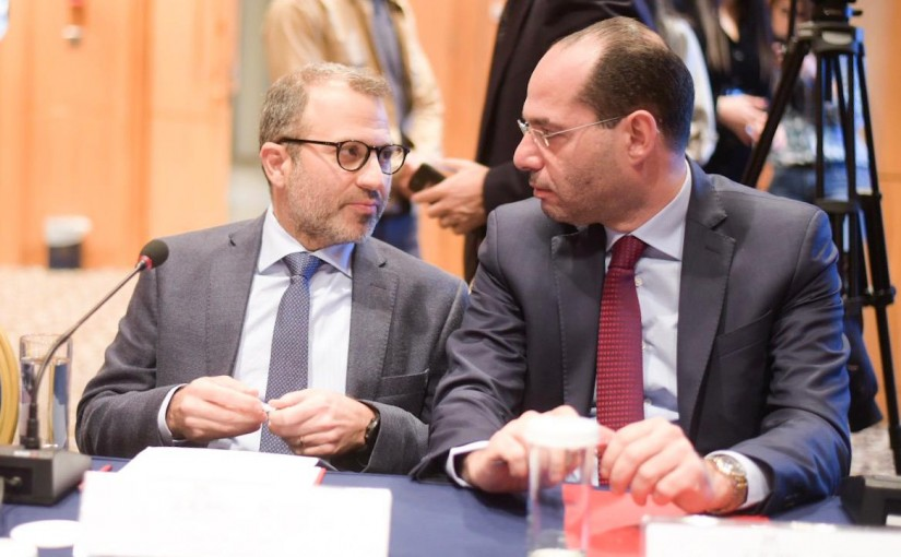 Minister Gebran Bassil Attends a Conference at Royal Hotel