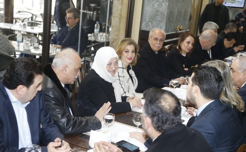 MP Bahiya Hariri at Place D etoile Restaurant